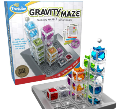 This is an image of kid's gravity laze marble run logic game