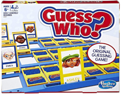 This is an image of kid's guess who classic board game