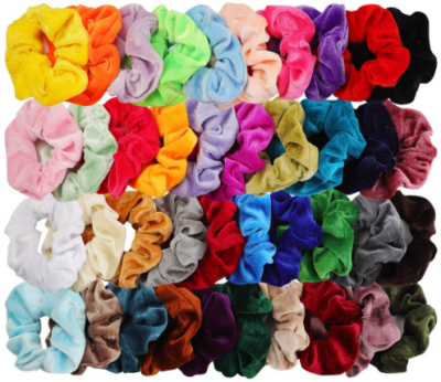This is an image of girl's hair bands ties pack in colorful colors