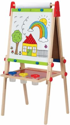 This is an image of an all in one art easel for kids by Hape.