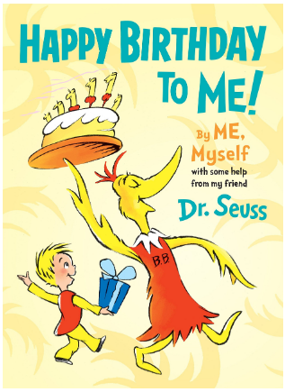 This is an image of girl's Happy birthday Book