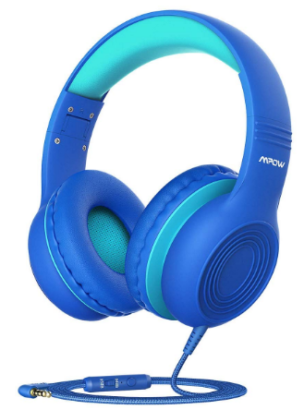 This is an image of girl's headphones in blue color