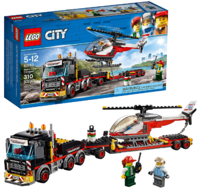 This is an image of kid's LEGO heavy cargo transport building kit