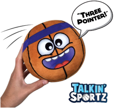 This is an image of boy's basketball interactive toy with sounds in orange color