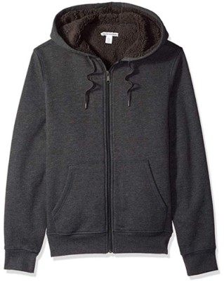 This is an image of boy's hooded sweatshirt in black colors