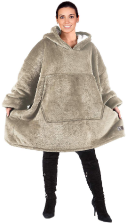 This is an image of girl's hoddie sweatshirt oversized Latte color