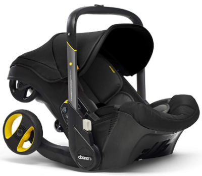 This is an image of infant's 2 in 1 car seat with latch base in black color