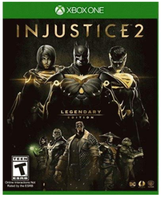 This is an image of kid's injustice 2 game for xbox one