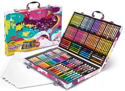 This is an image of girl's inspiration art case coloring set in colorful colors