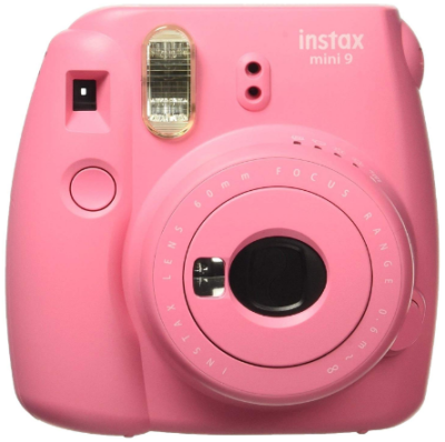This is an image of girl's Instant camera by Fujifilm in pink color