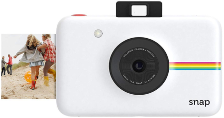 This is an image of girl's intant digital camera in white color