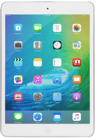 This is an image of kid's ipad mini with retina in silver color