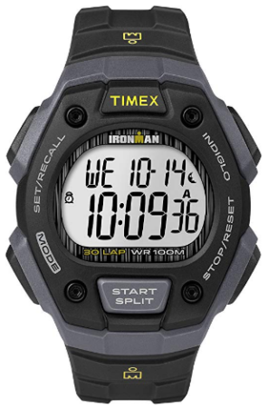 This is an image of boy's ironman classic watch in gray and black colors