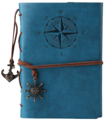 This is an image of girl's journal notebook in blue color