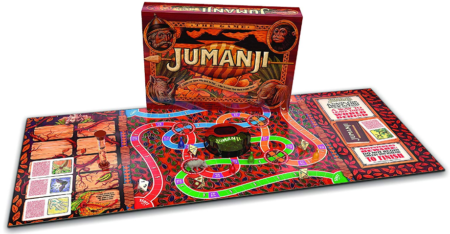 This is an image of kid's jumanji action boad game