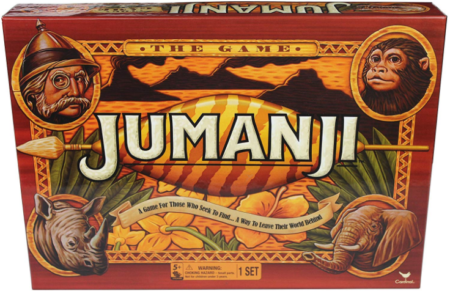 This is an image of kid's jumanji the game action board game