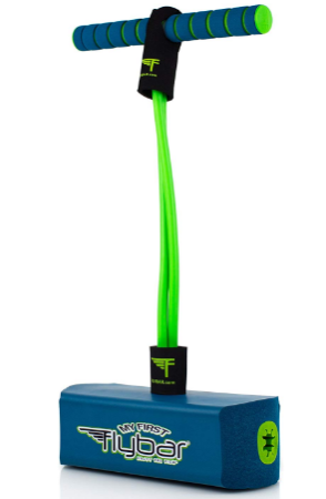 This is an image of boy's pogo jumper in green and blue colors