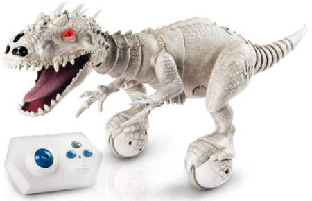 This is an image of boy's Jurassic world dinosaur Robot with remote control