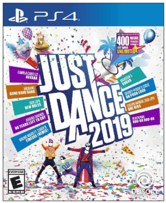 This is an image of kid's just dance 2019 game for playstation 4