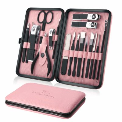 This is an image of an 18 piece manicure set for ladies by Keiby Citom.