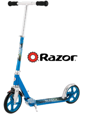 This is an image of boy's kick scooter by razor in blue color