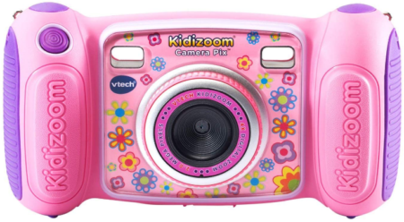 This is an image of girl's kidizoom camera in pink color
