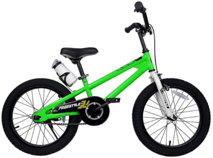 This is an image of boy's Freestyle bike in green color