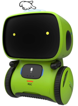 This is an image of boy's robot toy in green color