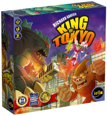This is an image of kid's king of tokyo board game