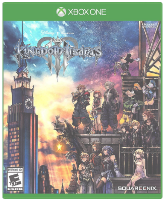 This is an image of kid's kingdom hearts 3 game for xbox one