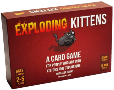This is an image of boy's kittens card game