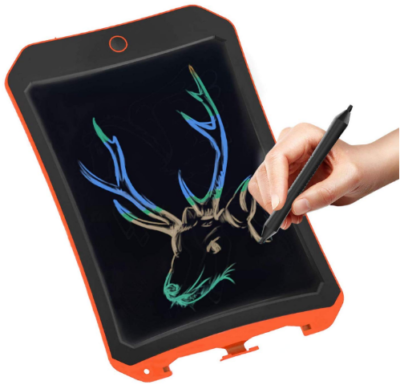 This is an image of boy's LCD electronic board drawing tablet in black color