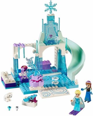This is an image of a Frozen Ice castle building playset for little girls.
