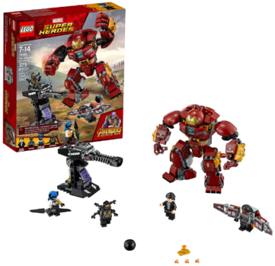 This is an image of kid's LEGO marvel infinity war building set
