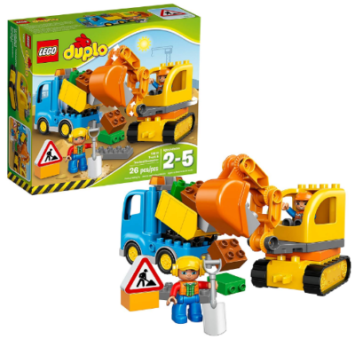This is an image of boy's LEGO duplo truck building kit in colorful colors