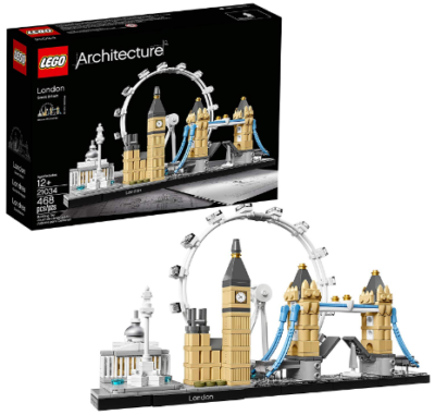 This is an image of girl's LEGO architecture london building kit