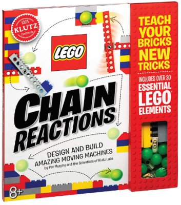 This is an image of boy's LEGO chain reaction science and building kit