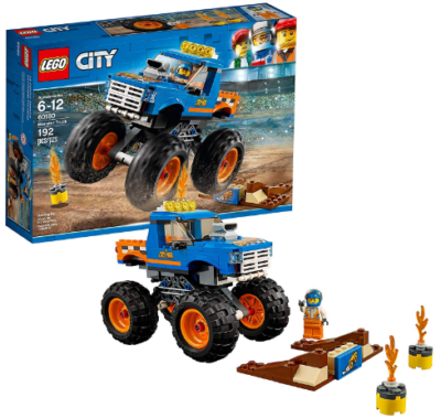 This is an image of boy's LEGO monster truck building kit