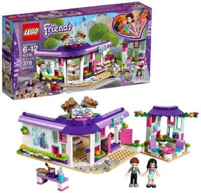 This is an image of girl's LEGO friends Emma's art café building kit