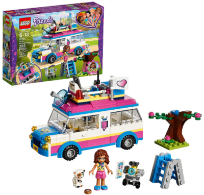 This is an image of girl's LEGO friends olivia's mission vehicle building kit