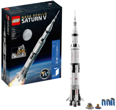This is an image of boy's LEGO nasa apollo building kit