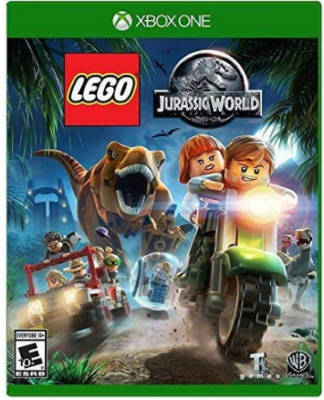 This is an image of kid's LEGO jurassic world Game for xbox one