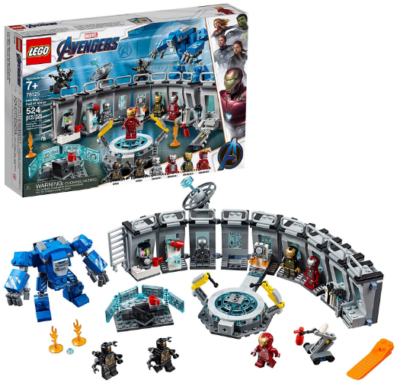This is an image of kid's LEGO Avengers iron man building set in colorful colors