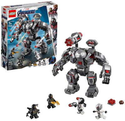 This is an image of kid's LEGO avengers war machine buster building kit in multicolors