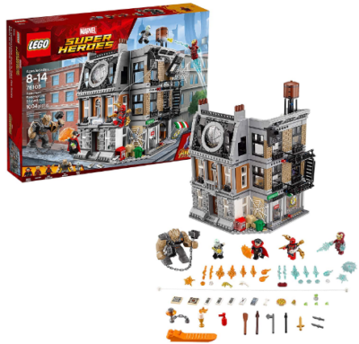 This is an image of kid's LEGO marvel super heroes avengers building set