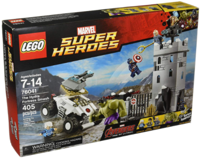This is an image of kid's LEGO marvel super heroes avengers the hydra fortress