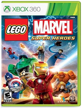 This is an image of kid's LEGO marvel super heroes game for xbox 360