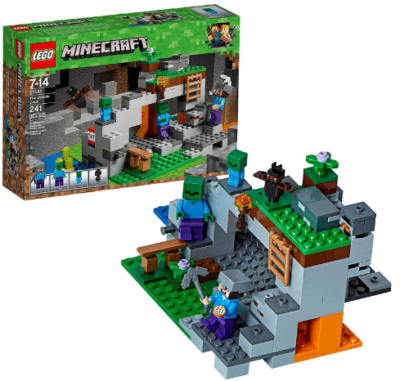 This is an image of kid's LEGO minecraft the zombie cave building kit