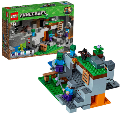 This is an image of boy's LEGO minecraft building kit