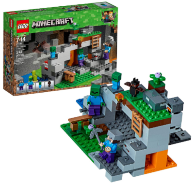 This is an image of boy's LEGO minecraft the zombie cave building kit
